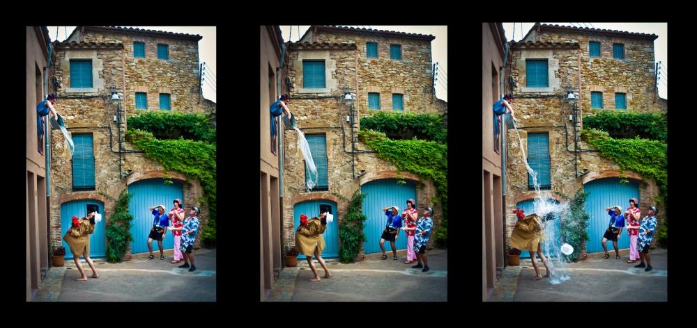 Composició tres imatges per explicar una acció